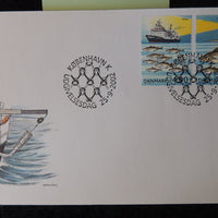 Denmark 2002 FDC sea exploration ships fishing cod lighthouse trawler good used