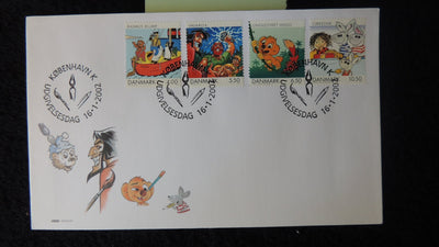 Denmark 2002 FDC danish comics and cartoons children good used