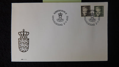 Denmark 2002 FDC queen margrethe royalty good used