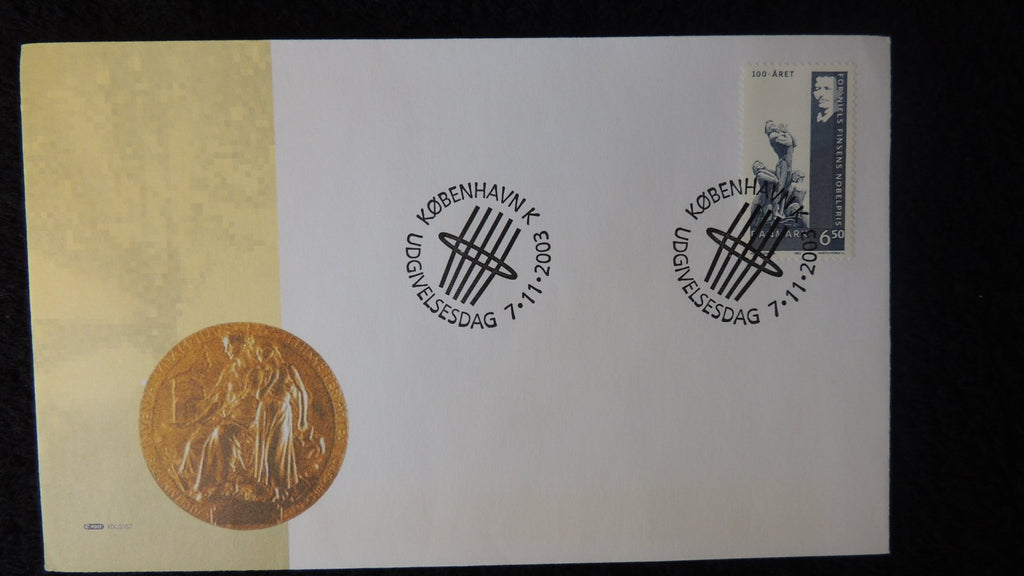 Denmark 2003 FDC Centenary of Niels Finsen's Nobel Prize for Physiology and Medicine good used