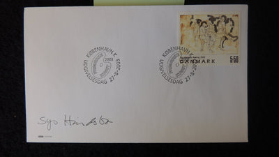 Denmark 2003 FDC art paintings Sys Hindsbo good used