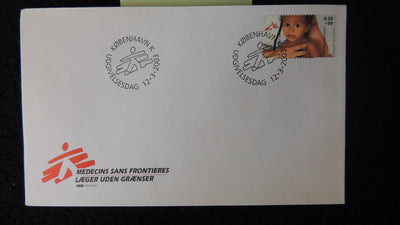 Denmark 2003 FDC Medicins sans Frontieres (medical charity) children good used