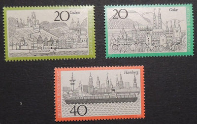 Germany 1971-74 tourism cochem goslar hamburg MNH