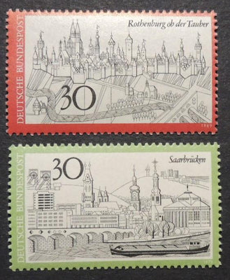 Germany 1971-74 tourism saarbrucken rothenburg ob der tauber MNH