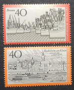 Germany 1971-74 tourism rudesheim am rhein bremen MNH