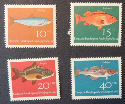 Germany 1964 child welfare fish sg1326-29 MNH