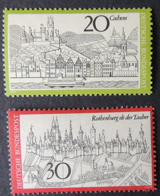 Germany 1971-74 tourism cochem rothenburg ob der tauber MNH