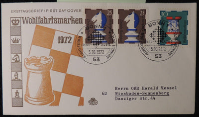 Germany 1972 FDC chess sport good used #1