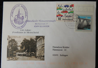 Germany 1999 FDC centenary post office in merscheid good used