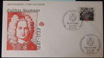 Germany 1987 FDC 300th birth anniversary balthas neumann good used
