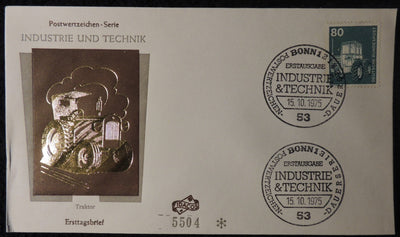 Germany 1975 FDC industry and technology farm tractor bonn pm average used