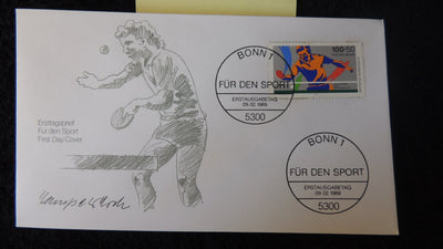 Germany 1989 FDC sport table tennis bonn postmark good used #1