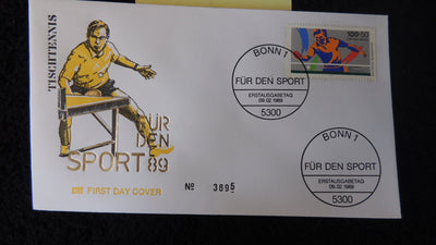 Germany 1989 FDC sport table tennis bonn postmark good used #2
