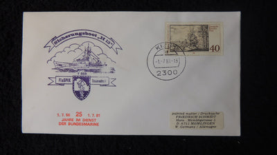 Germany 1981 FDC ship post flaSPIK fuse boat todendorf Albrecht Altdorfer art engraver architect militaria