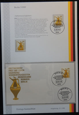 Germany Berlin 1989 FDC sammelblatt collection+MNH attractions bronz jar reinheim superb