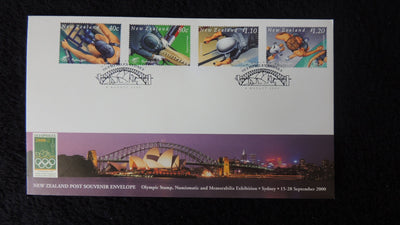 New Zealand 2000 FDC olymphilex stamp exhibition sport sydney opera house bridge superb used