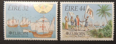 Ireland 1992 europa 500th anniversary discovery of america ships galleons columbus flags sg844-45 MNH