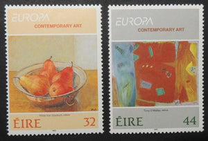 Ireland 1993 europa contemporary art fruit pears sg876-77 MNH