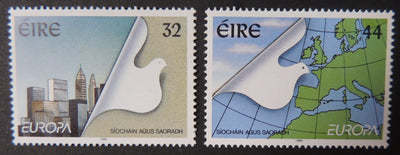 Ireland 1995 europa peace freedom maps birds doves sg949-50 2v MNH