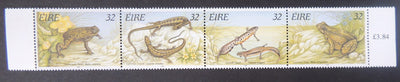Ireland 1995 reptiles and amphibians toad lizard newt frog sg965-8 4v MNH