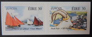Ireland 1998  europa festivals puck fair killoglin sailing ships self adhesive sg1171-2 2v MNH