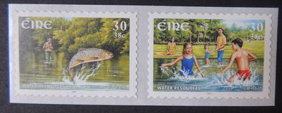 Ireland 2001 europa water children fish self adhesive 1v sg1422-3 MNH