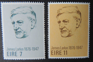 Ireland 1975 james larkin trade unions sg384-6 2v MNH