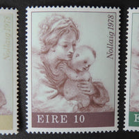 Ireland 1978 christmas religion mother and child sg433-5 3v MNH