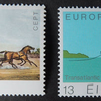 Ireland 1979 europa Bianconi Long Car horses transport transatlantic cable ships sg456-7 2v MNH