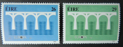 Ireland 1984 europa bridges sg588-9 2v MNH