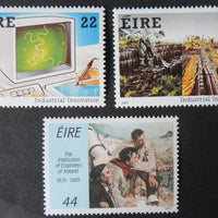 Ireland 1985 industrial innovations visual display unit VDU turf cutting sg623-5 3v MNH