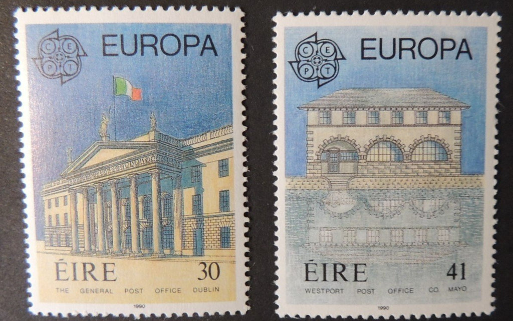 Ireland 1990 europa post office buildings postal sg776-7 MNH