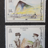 Gibraltar 1982 europa militaria aviation aircraft 2 values MNH