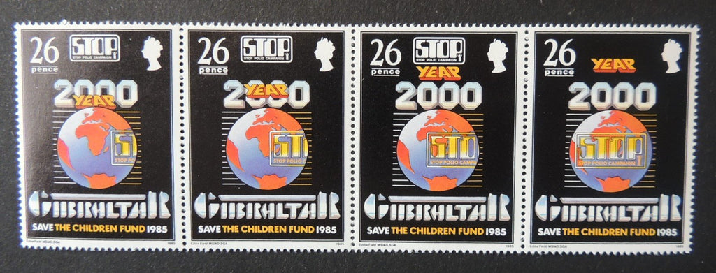 Gibraltar 1985 save the children fund globe MNH