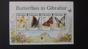 Gibraltar 1997 butterflies insects MNH MS