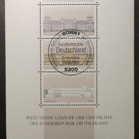 Germany 1986 buildings m/sheet sg ms2136 used