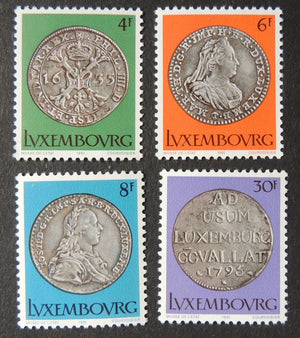 Luxembourg 1981 culture coins in state museum 4 values MNH
