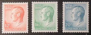 Luxembourg 1965-91 definitives 12F 16F 20F values MNH