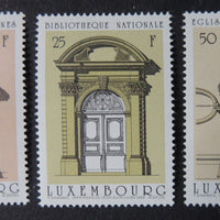 Luxembourg 1988 doorways architectural drawings joseph wegener 3 values MNH