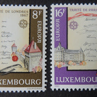 Luxembourg 1982 europa treaty of london and paris 2 values MNH