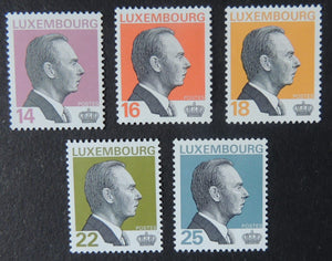 Luxembourg 1993 definitives 14F 16F 18F 22F 25F values MNH