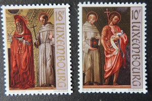 Luxembourg 1987 paintings art giovanni ambrgio bevilacqua 2 values MNH