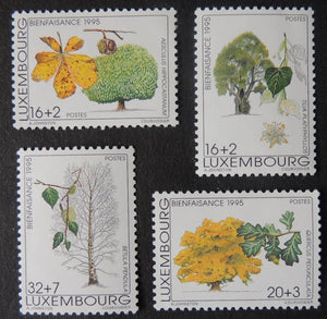 Luxembourg 1995 trees welfare 4 values MNH