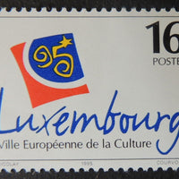Luxembourg 1995 european city of culture 1 value MNH