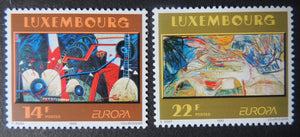 Luxembourg 1993 europa contempory art 2 values MNH