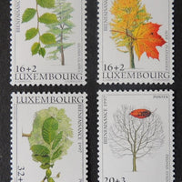 Luxembourg 1997 welfare fund trees 4 values MNH