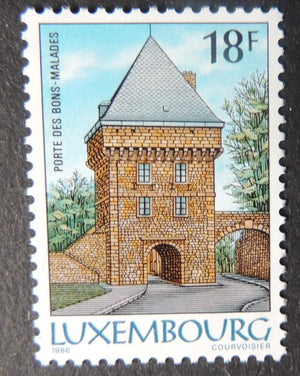 Luxembourg 1986 town fortifications invalids gate castles 1 value MNH