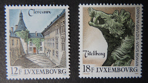 Luxembourg 1989 tourism bronze boar titelberg clervaux 2 values MNH