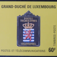 Luxembourg 1986 60F booklet telephones 5 values MNH