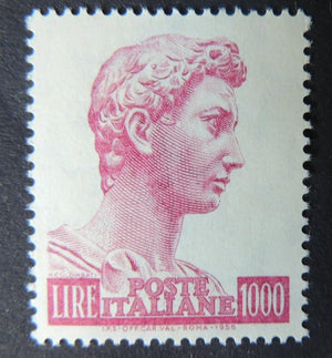 Italy 1957 st george (after Donatello) religion sg945a 1 value MNH